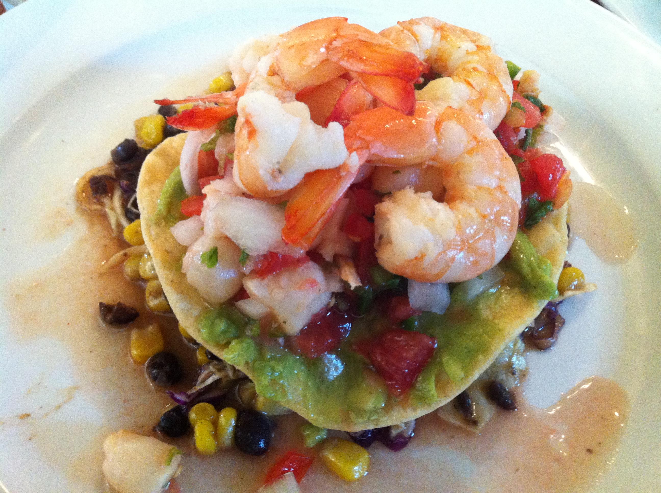 Shrimp & Scallop Ceviche Tostada | Ryan Boren