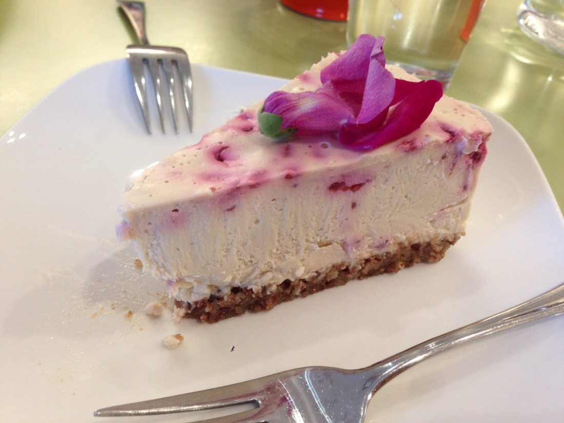 Raw, Vegan Lemon Raspberry Cheesecake