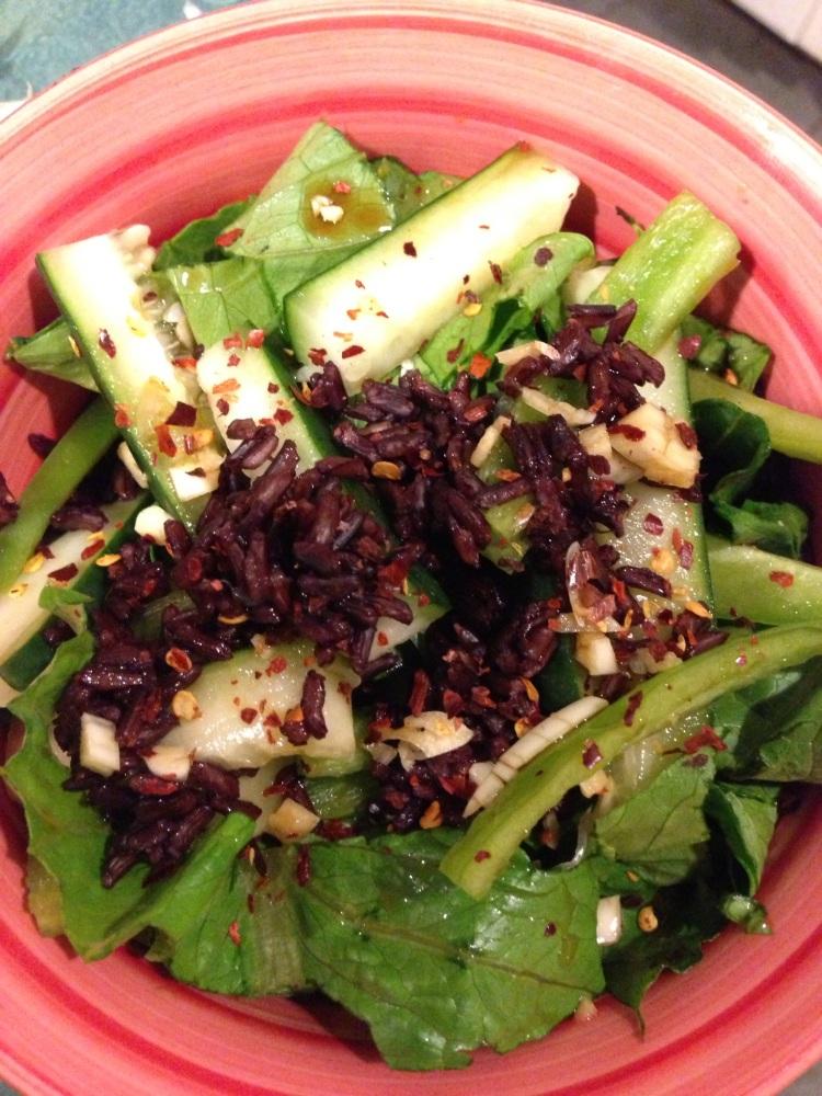 Black Rice Veggie Bowl