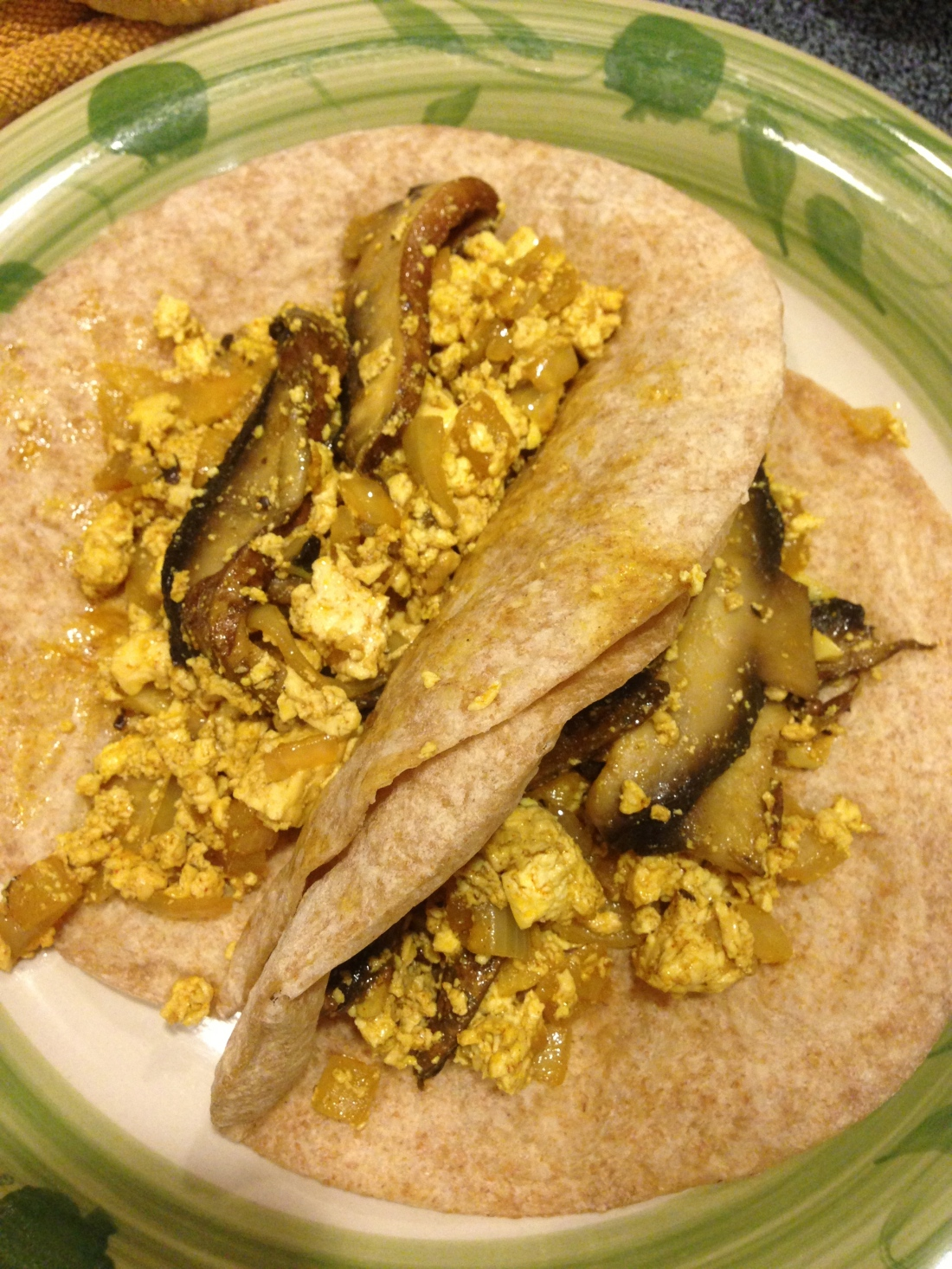 Tofu Scramble with Portobello Bacon