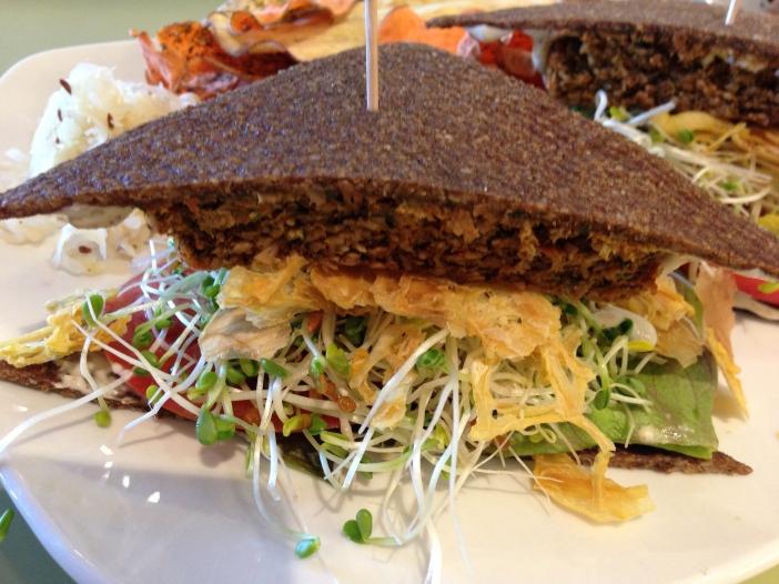 Raw, Vegan Burger