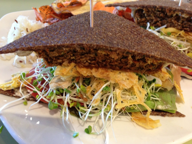 Raw, Vegan Burger