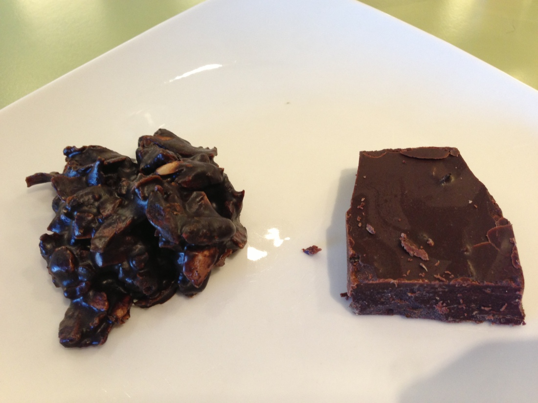 Superfood Cluster and Chocolate with Spicy Eggplant
