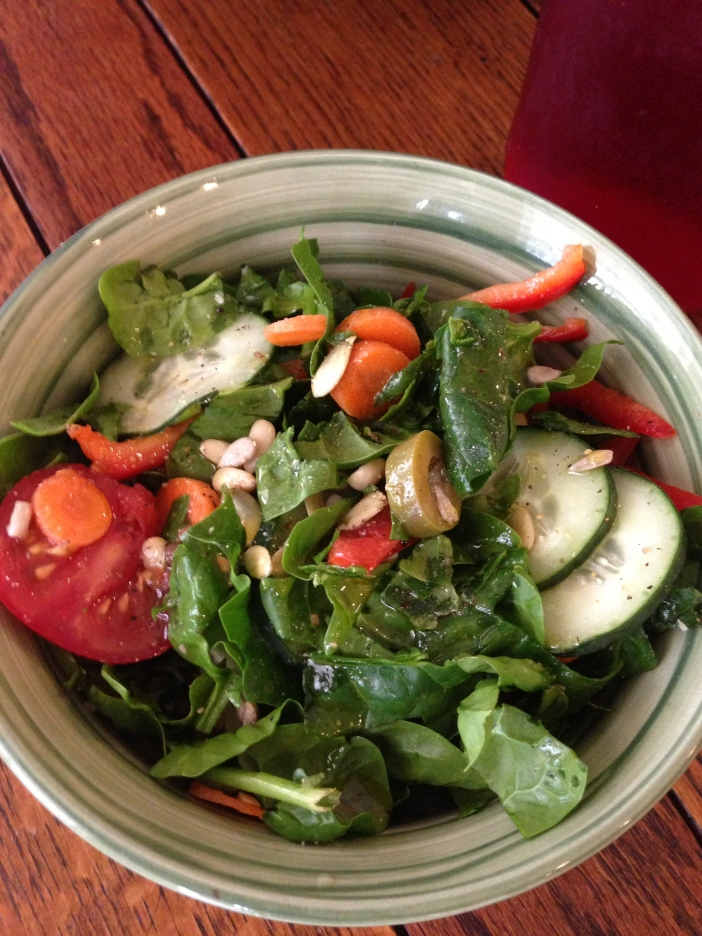 Salad Dressed with Avocado Oil