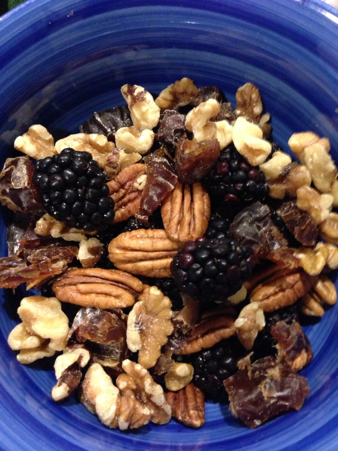 Fresh Blackberries, Raw Nuts, Dried Medjool Dates