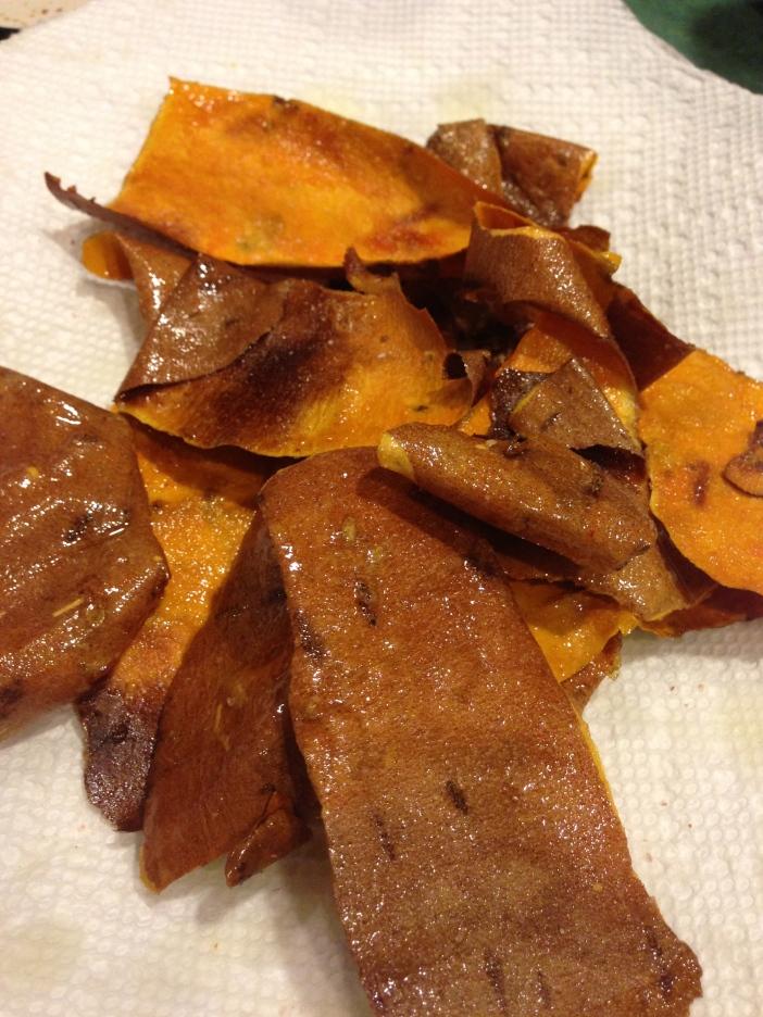 Sweet Potato Skin Crisps