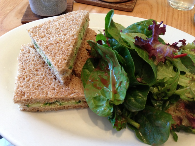 Lemon Edamame Tea Sandwiches with Mixed Greens