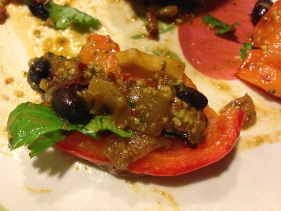 Edamame and Black Bean Stuffed Peppers