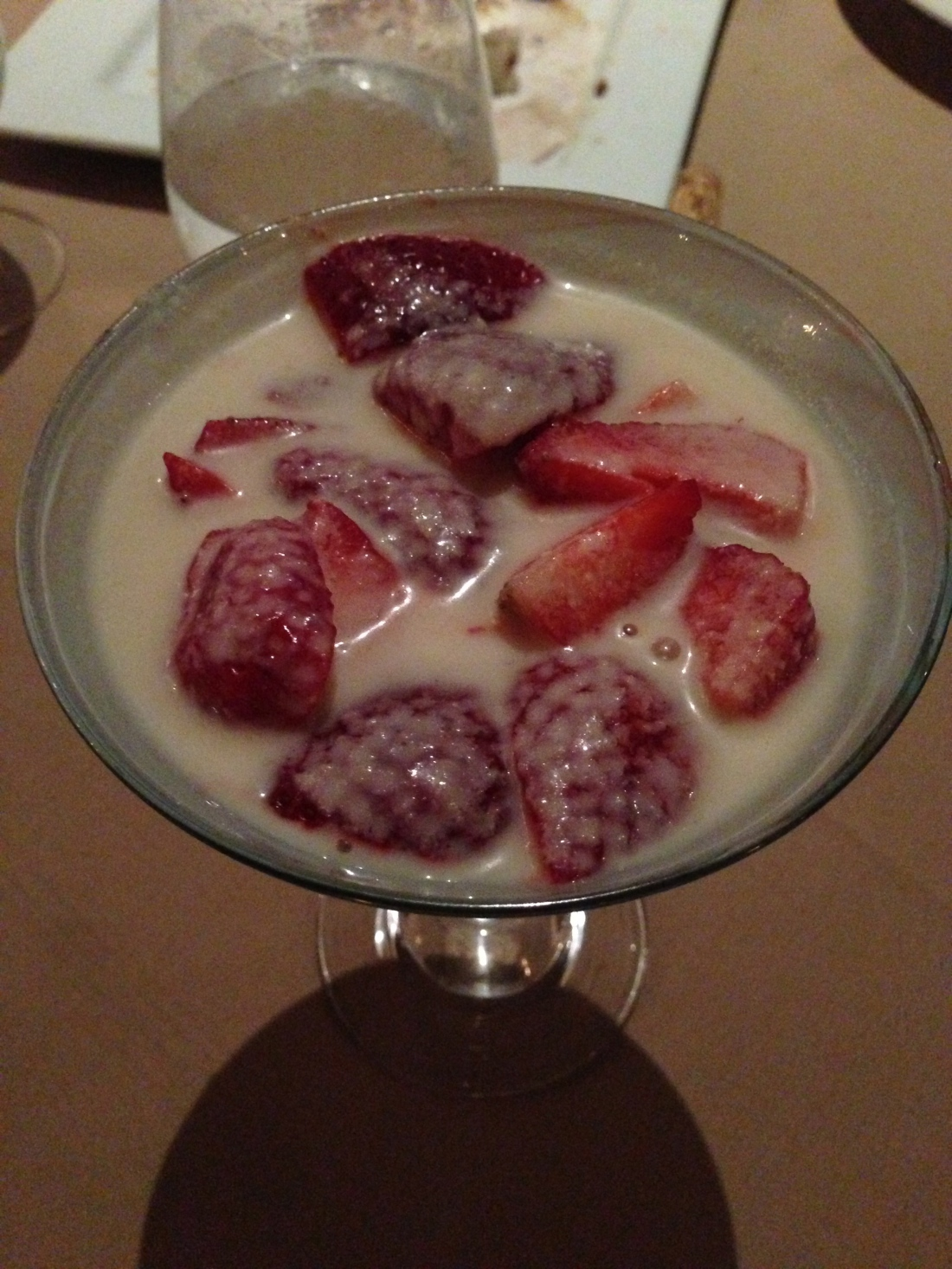 Fresh Berries in Almond Cream