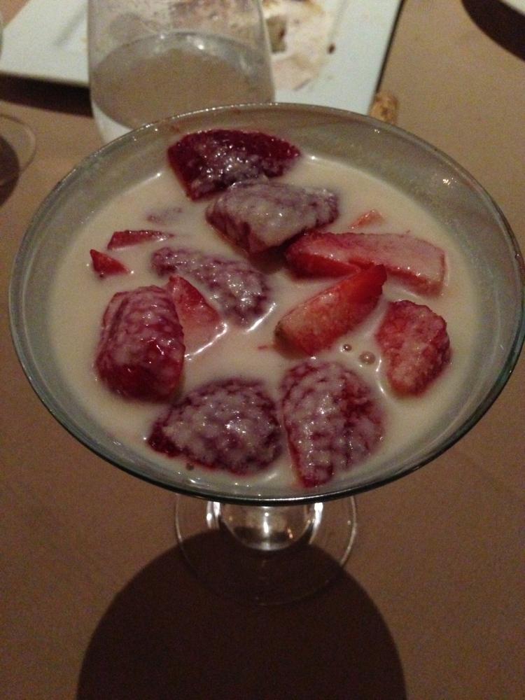 Fresh Berries in Almond Cream