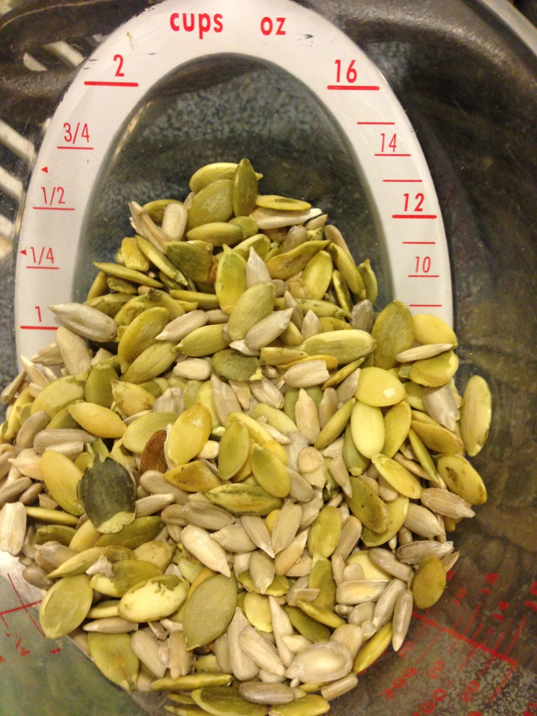 1/2 Cup Pumpkin, 1/2 Cup Sunflower Seeds