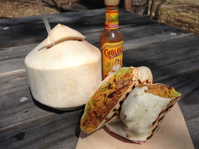 Freeto Burrito and Young Coconut