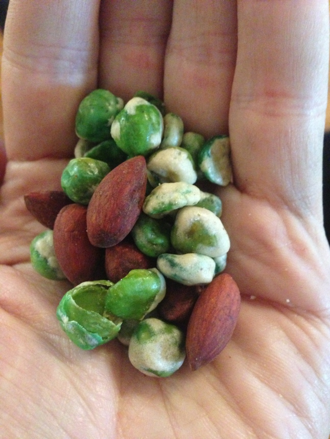 Wasabi Peas and Tamari Almonds