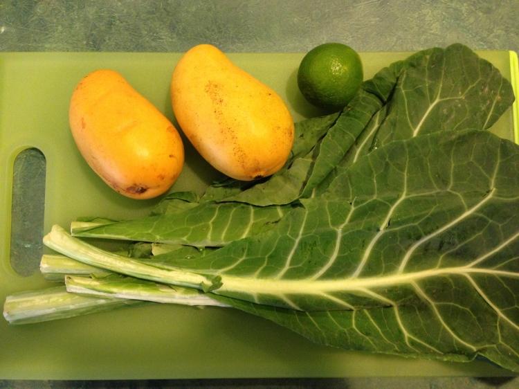 Mango, Lime, and Collard Greens