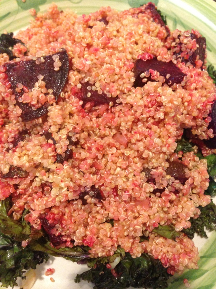 Quinoa with Roasted Beets and Kale