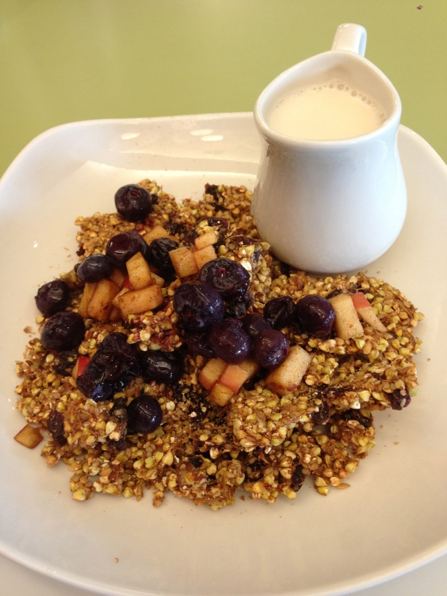 Buckwheat Granola with Almond Milk
