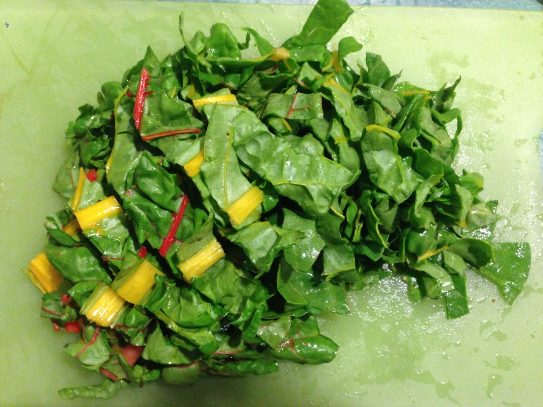 Chopped Swiss Chard