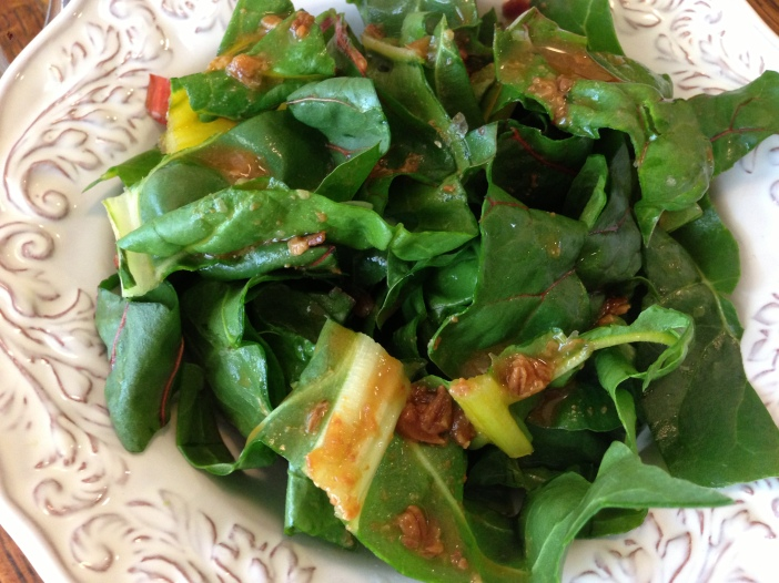 Swiss Chard with Miso Citrus Dressing