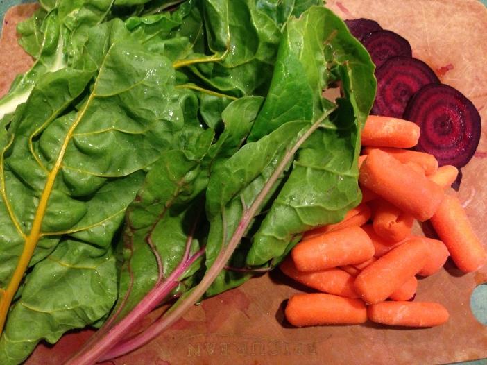 Swiss Chard, Carrots, Beets