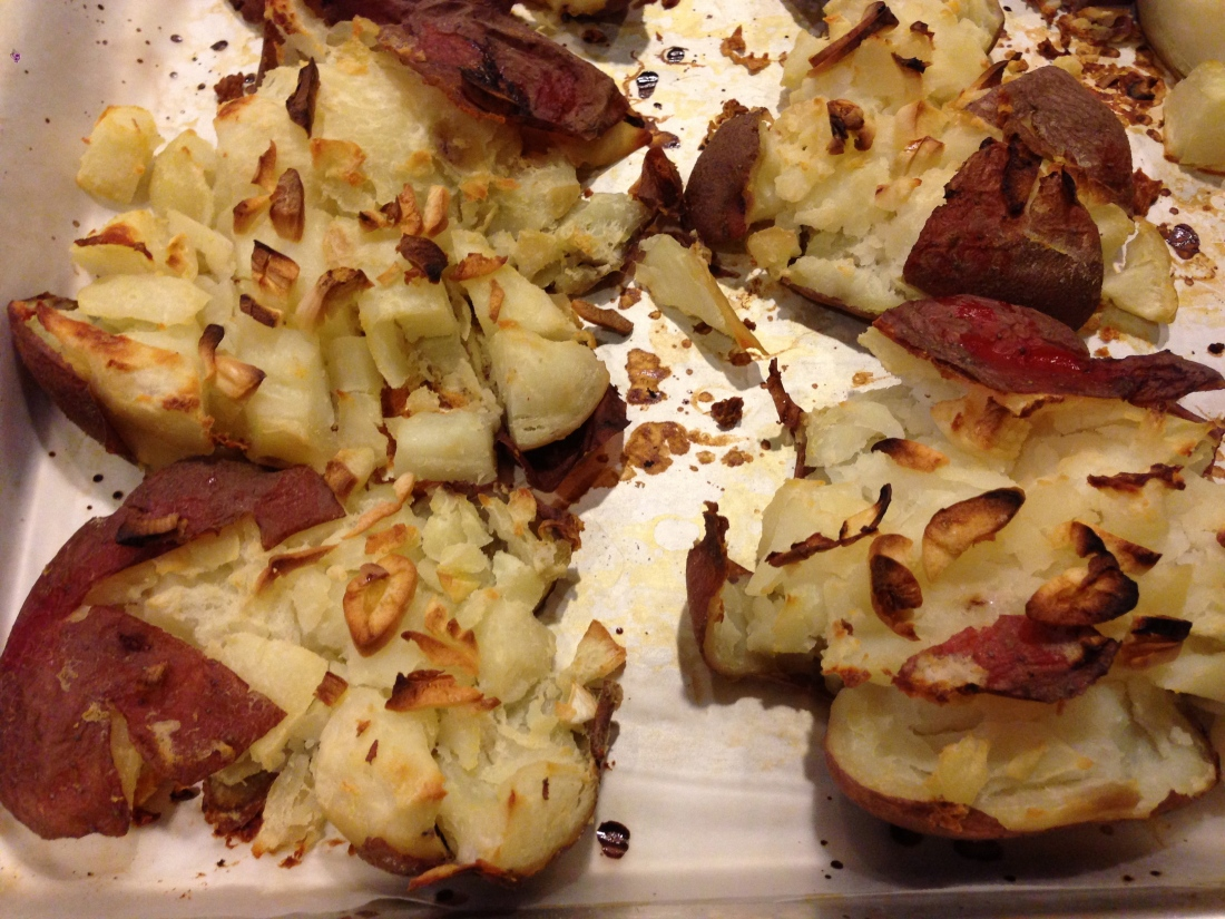 Garlic Crashed Potatoes