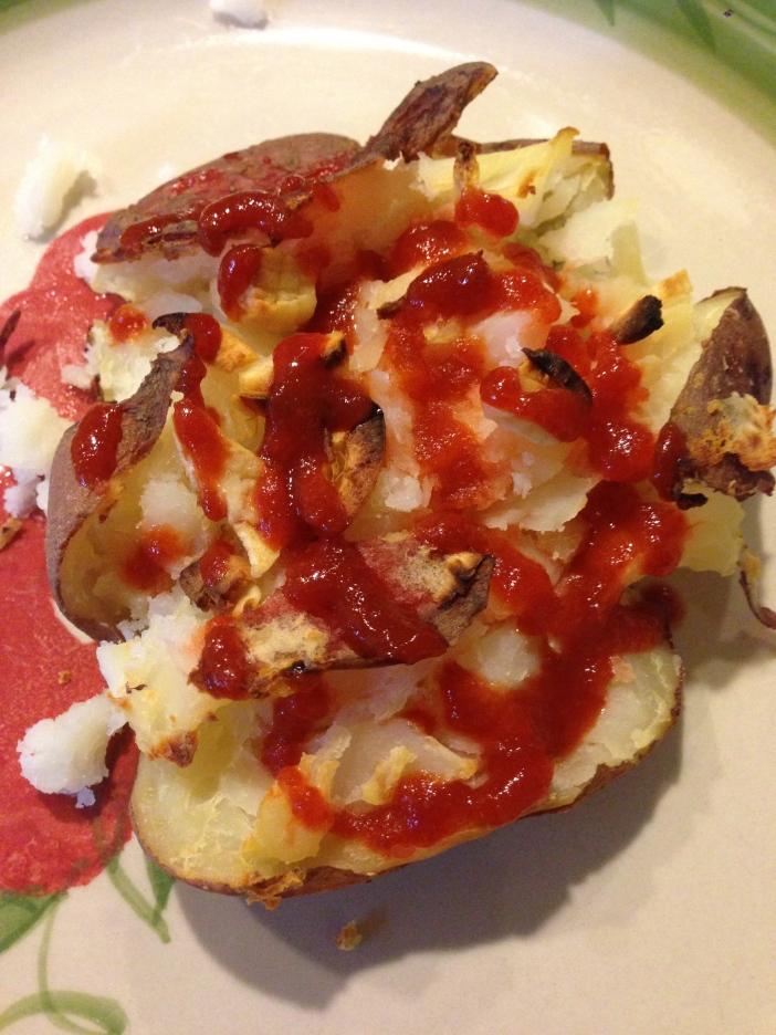 Sriracha Crashed Potato