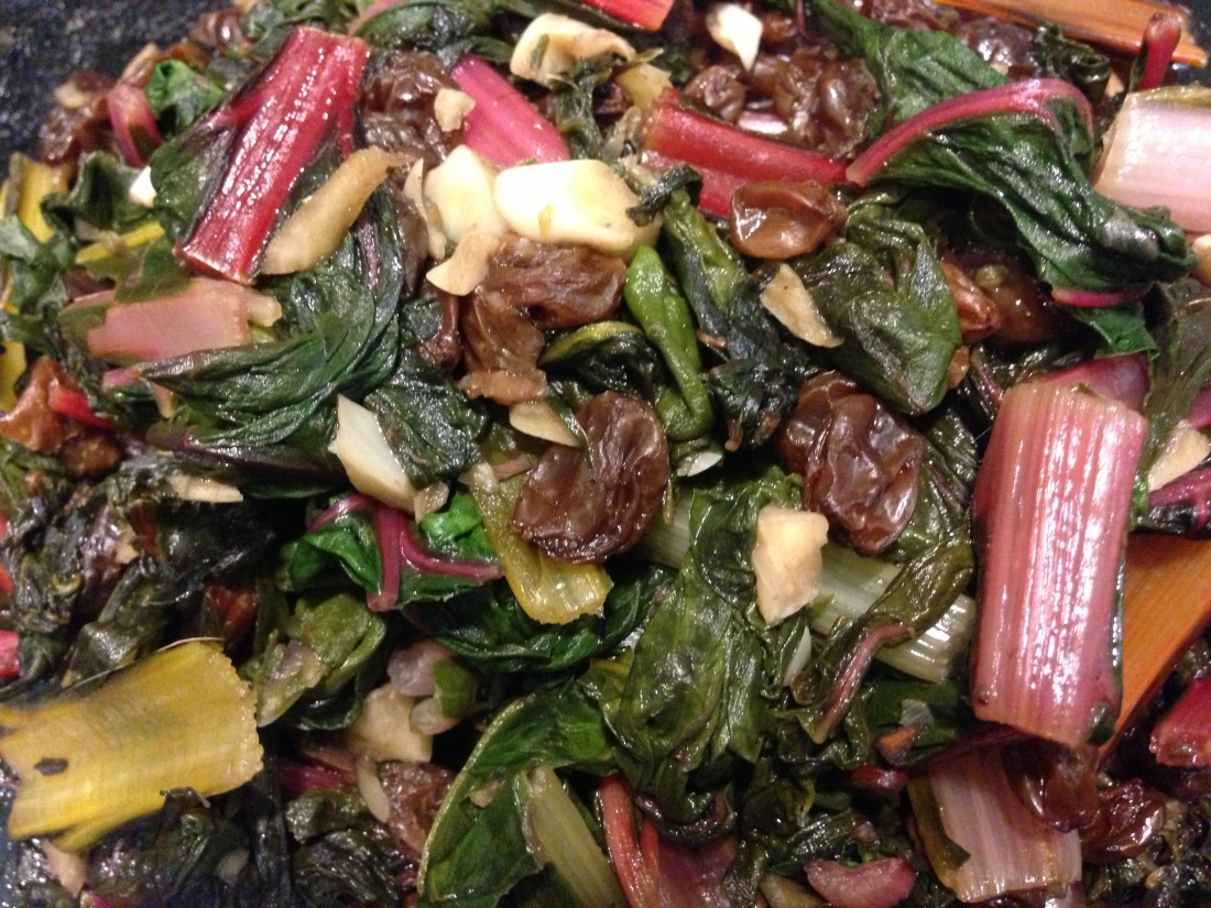 Sautéed Chard and Raisins