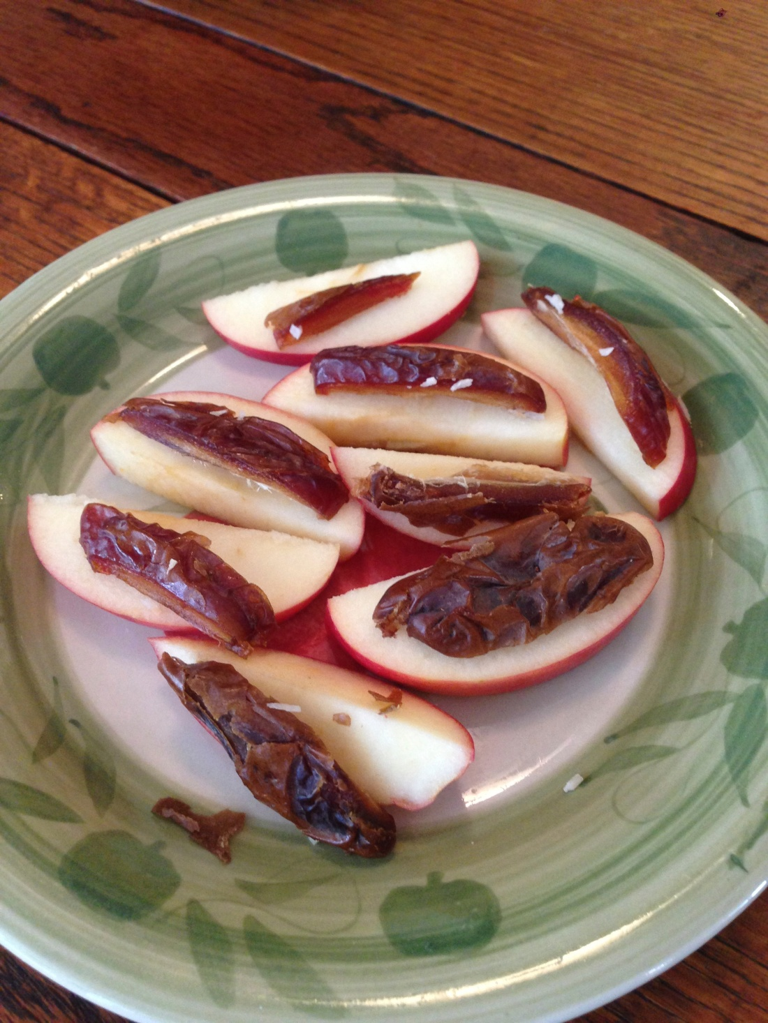 Sliced Apples and Medjool Dates