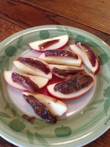 Sliced Apples and Medjool Dates