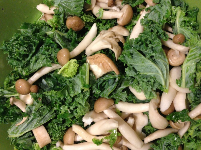 Kale and Mushrooms