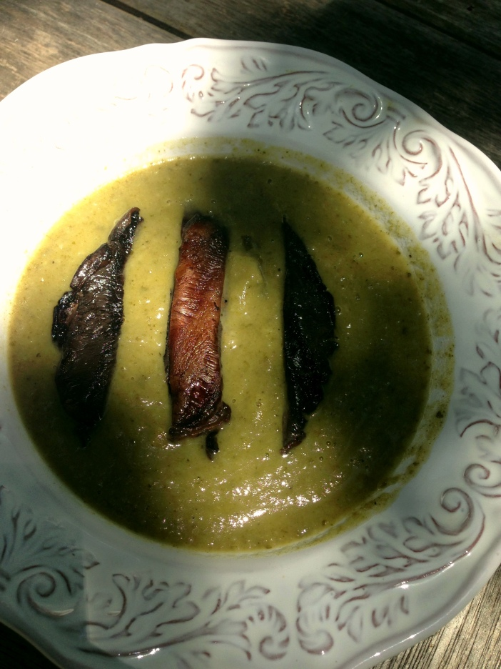Kale and Root Vegetable Soup with Portobella Mushrooms