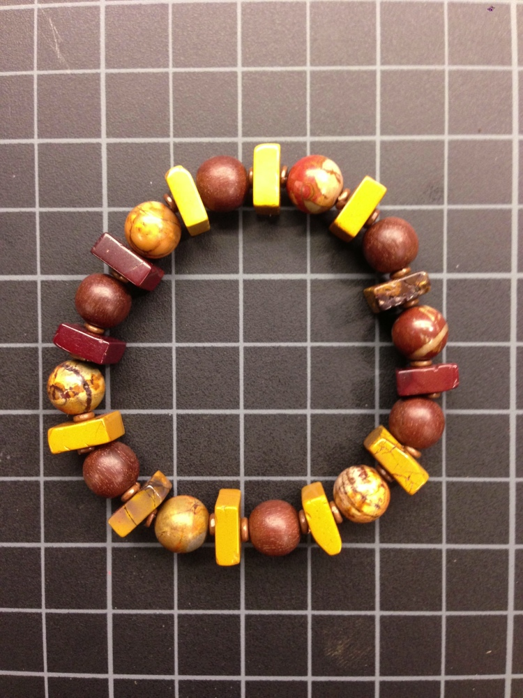 Mookaite, Picasso Jasper, Magkuno, and Copper Bracelet