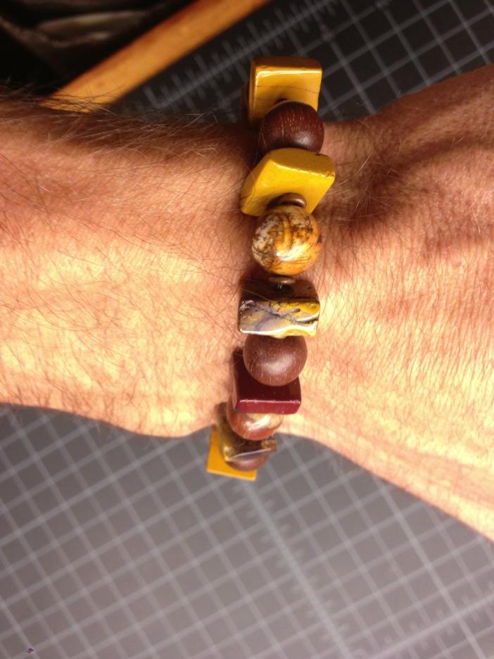 Mookaite, Picasso Jasper, Magkuno, and Copper Bracelet