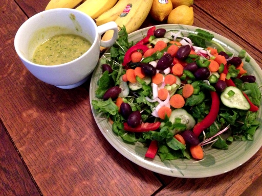 Miso, Mango, and Cilantro Dressing on a Random Act of Salad