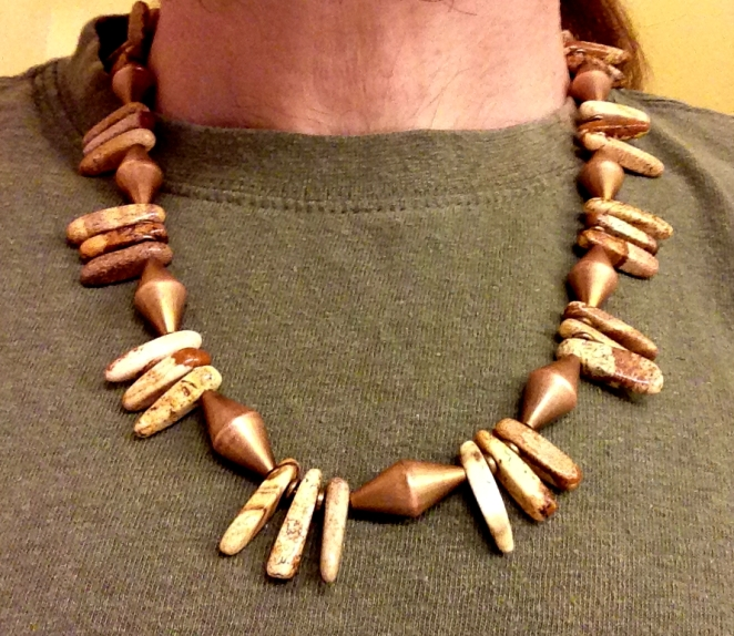 Picture Jasper and Copper Necklace