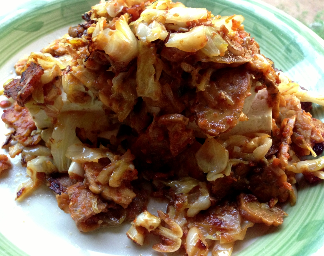 Tempeh Dubu Kimchi