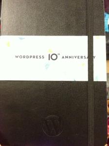 WordPress 10th Anniversary Moleskine
