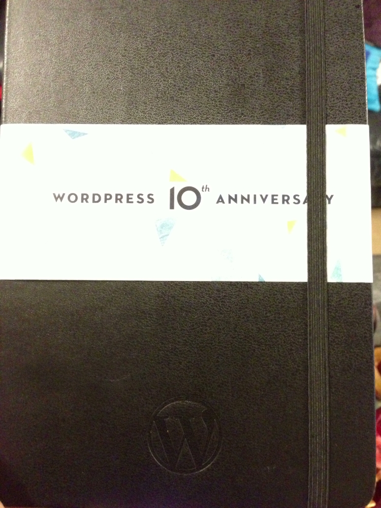 WordPress 10th Anniversary Moleskine
