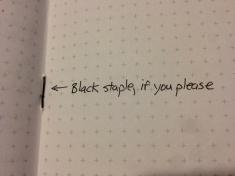 Field Notes Night Sky Black Staples