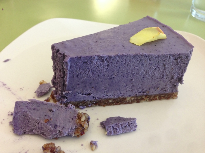 Vegan Blueberry Lavender Cheesecake