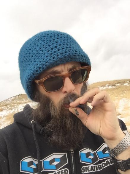Enjoying a hike with Durban Poison